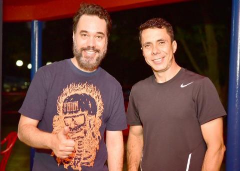 Ander e Emerson Jerônimo em evento de ciclismo em Toledo