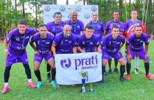 Equipe de futebol sete livre da Serprati/Prati-Donaduzzi � campe� do 27� Campeonato Panel�o