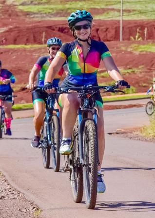 As roxinhas realizaram pedal no Caminho das Rosas/Pedreira  Municipal