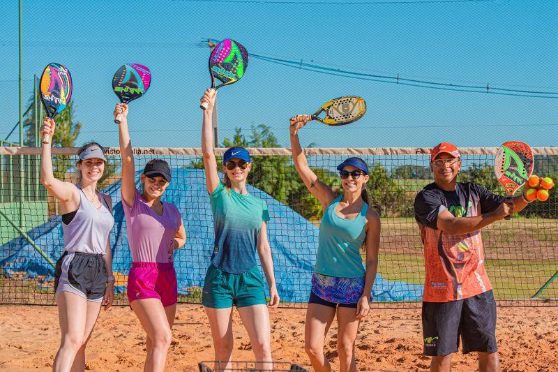HBA Tennis tem mais opção de aula: beach tennis