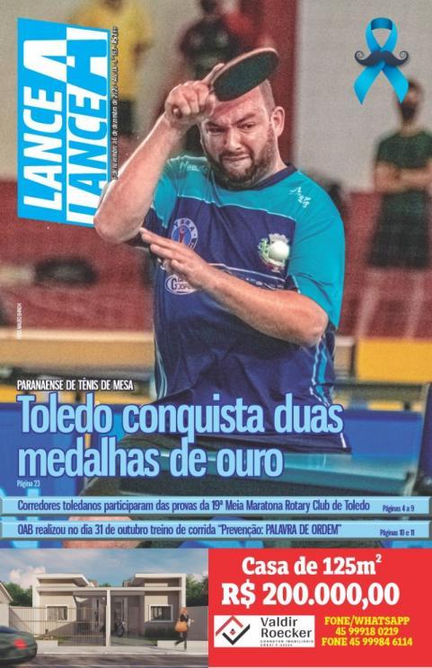 Edição de novembro da revista Lance A Lance