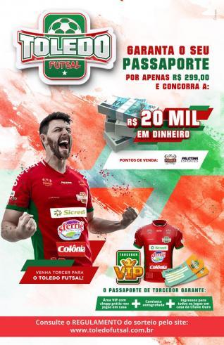 Adquira seu passaporte para assistir os jogos do Toledo Futsal na Chave Ouro