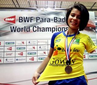 Cintya Oliveira é convocada para seu terceiro Mundial de Parabadminton