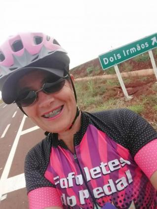 Não desisto de pedalar em hipótese alguma, comenta Elisangela