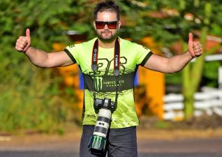 Carlos Alexandre Chiossi é um entusiasta da fotografia esportiva