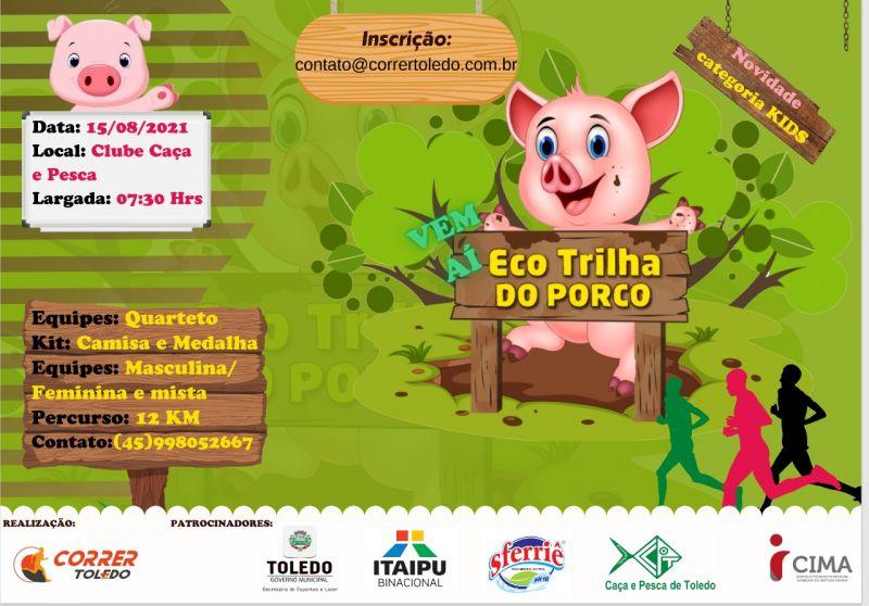 Eco Trilha do Porco será realizada no dia 15 de agosto